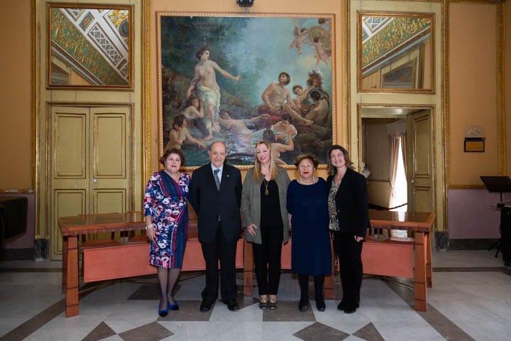 Francesco Samengo in visita a Scicli, Palazzo Spadaro foto gianni mania 01