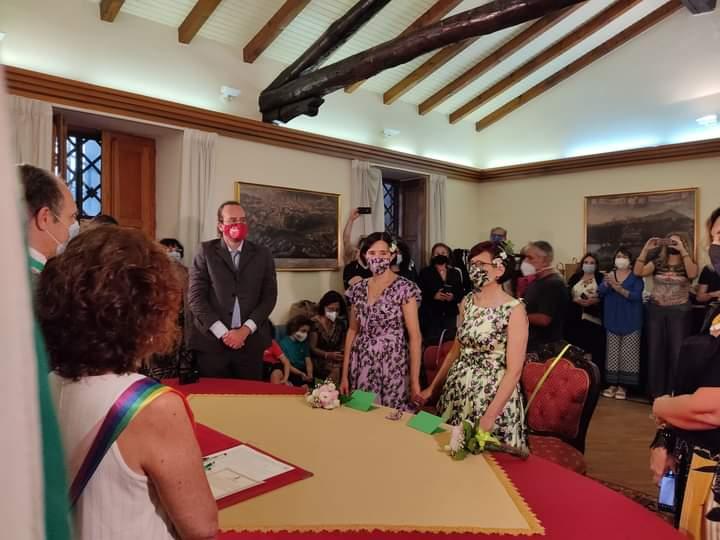 Alcuni momenti del matrimonio tra Chiara e Santina