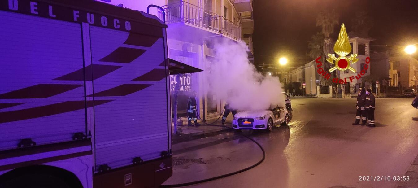 Incendio Siracusa 10 febbraio