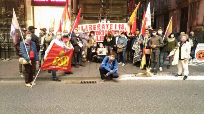 Presidio a Catania per la liberazione dei pescatori prigionieri in Libia (1)