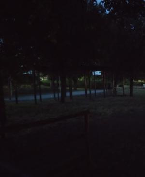 Piazza Aldo Moro al buio