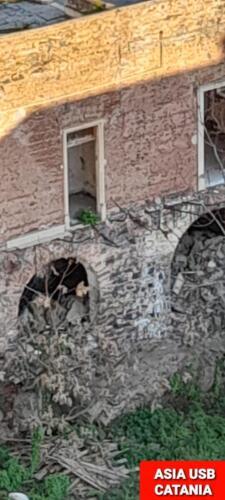 Crollo via del Bosco edificio abbandonato