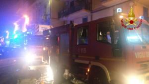 Incendio via Reclusorio del Lume (Catania)