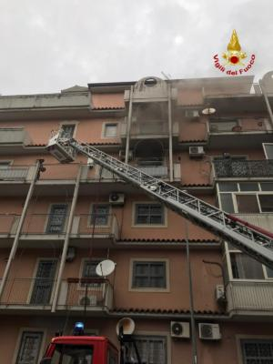 Incendio Largo Umberto Spadaro Catania