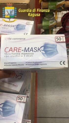 Sequestro mascherine Ragusa 3