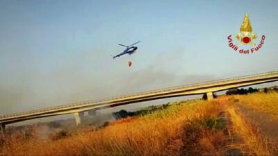 Incendi a Catania e provincia aggiornamento 25 agosto 2021 (3)