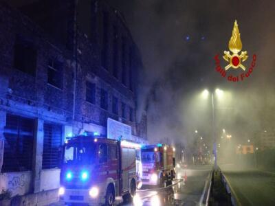 Incendio via Cristoforo Colombo 1