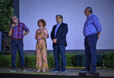 Milena Adua a. Da sx Aldo Toscano, Debora Bernardi, Giuseppe Lazzaro Danzuso, Luciano Catotti