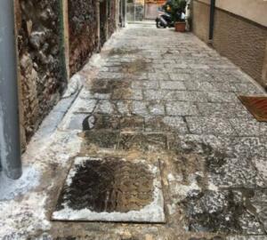 Via Orsini liquami 4