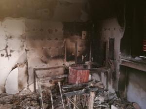 Incendio casa mineo