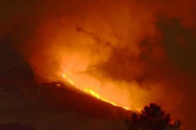 Eruzione vulcanica Etna