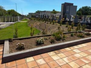 foto di repertorio di un angolo del nuovo plesso del cimitero