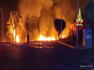 Incendio via Elorina 1